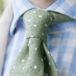 Pale green summer tie