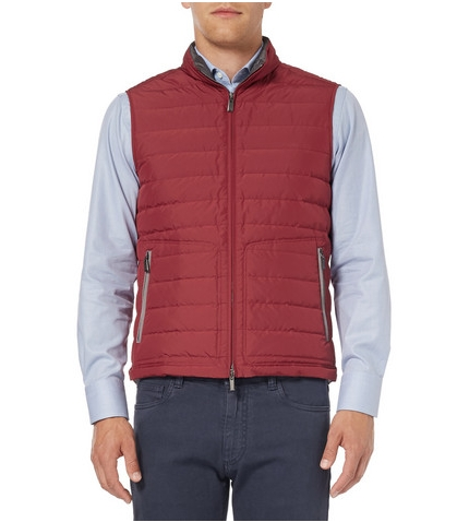 men quilted gilet