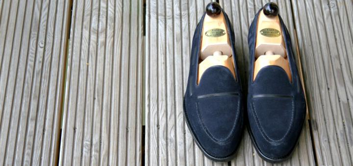blue loafers vass