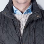 Quilted vest with wool
