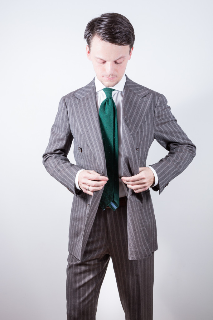pinstripe double breasted suit
