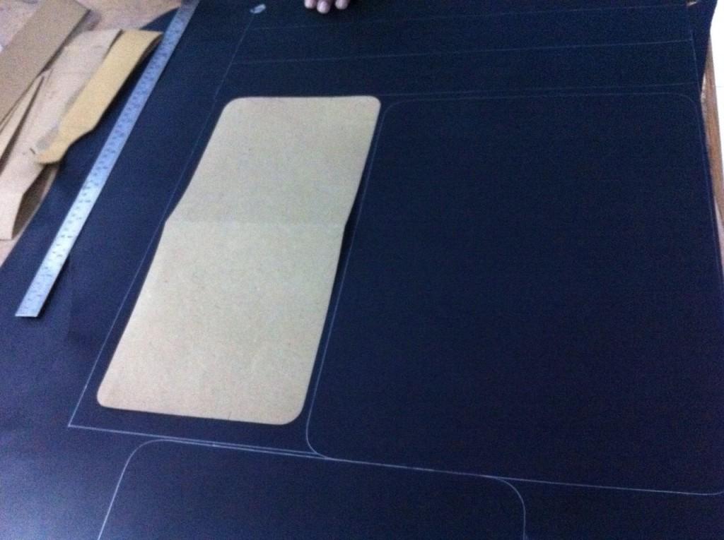 cutting using a bespoke pattern