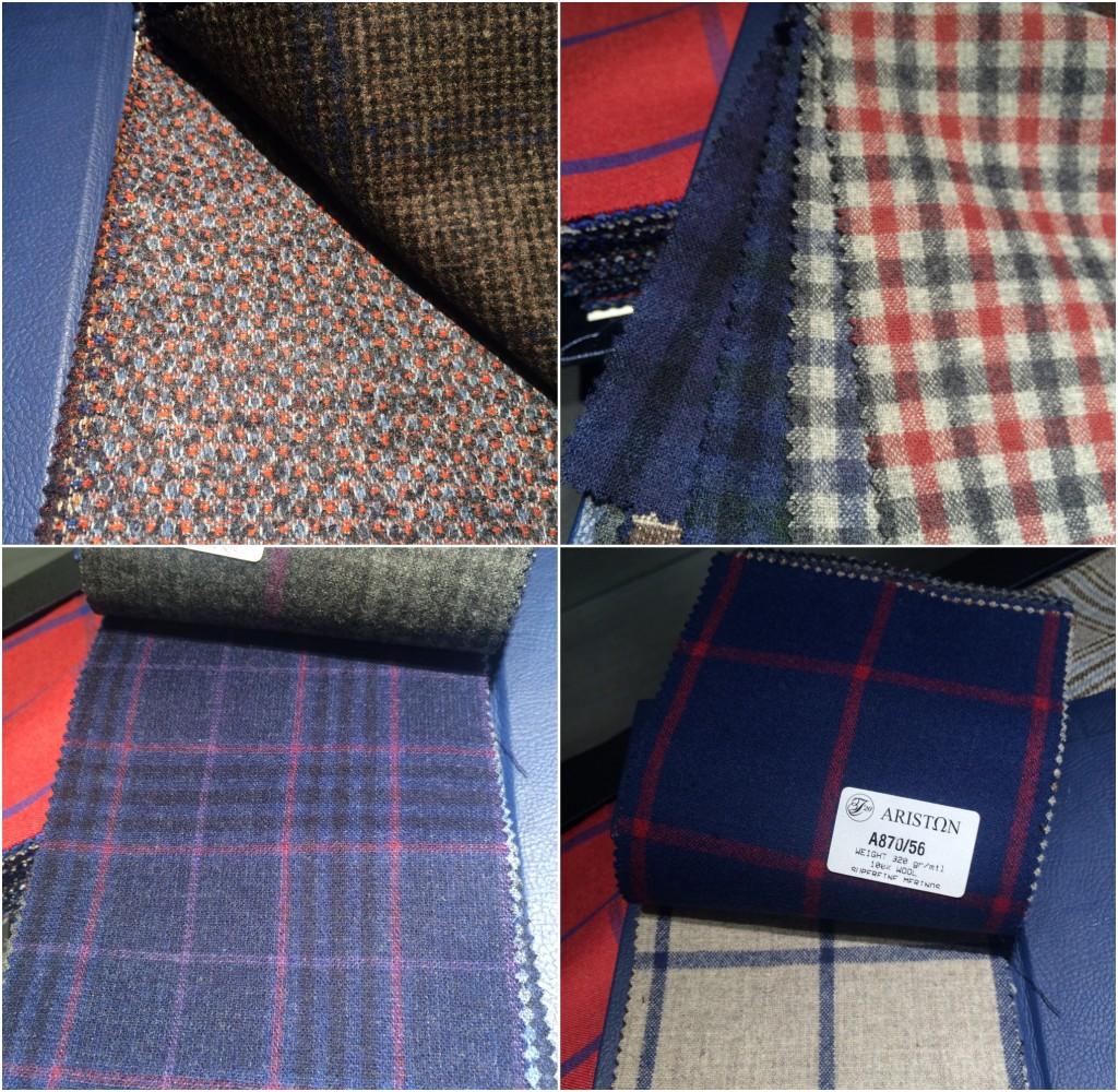Range of Ariston fabrics in guncheck and windowpane checks