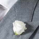 Grey double breasted suit: wedding