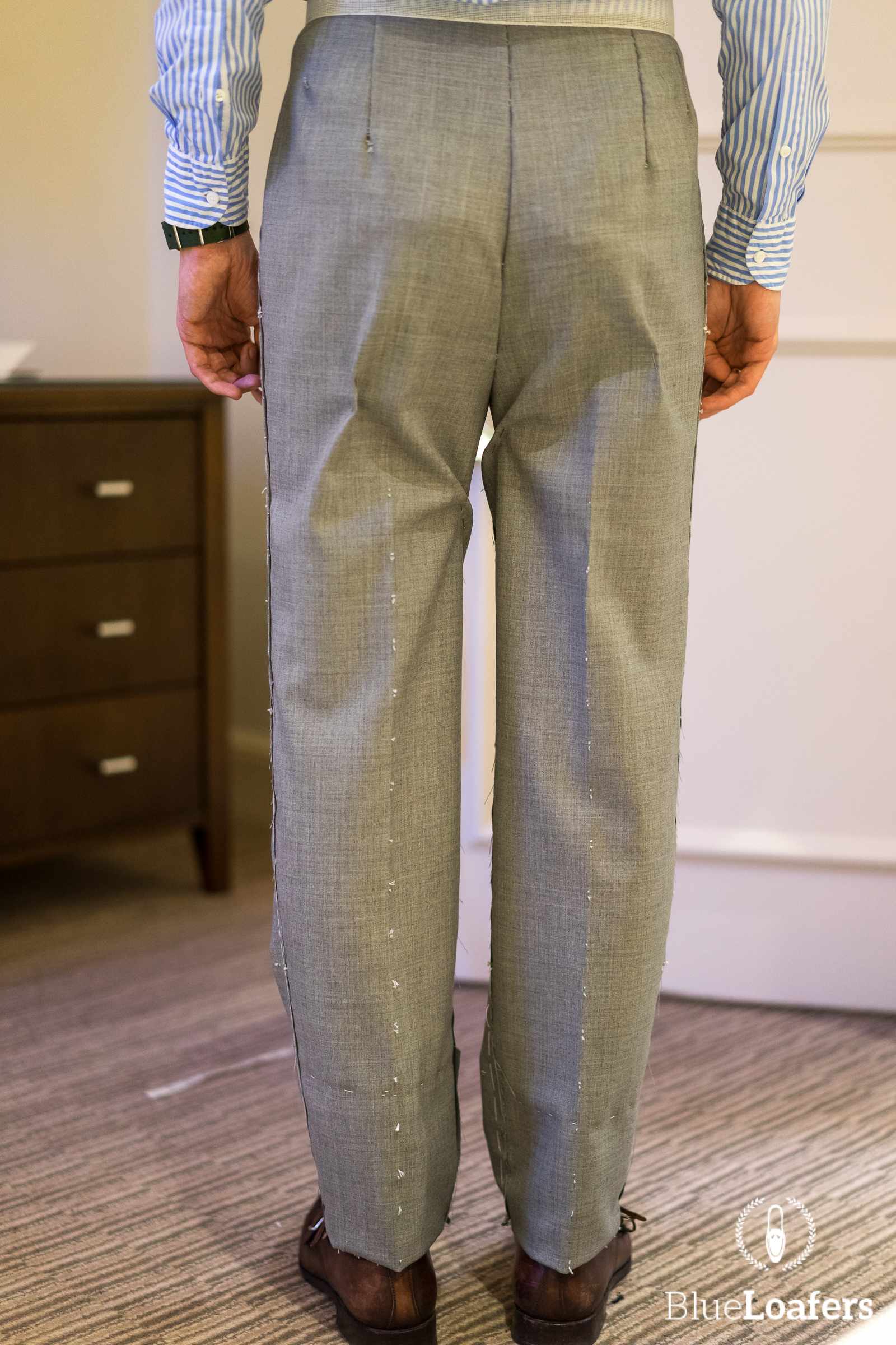 b u0026tailor bespoke suit - first fitting