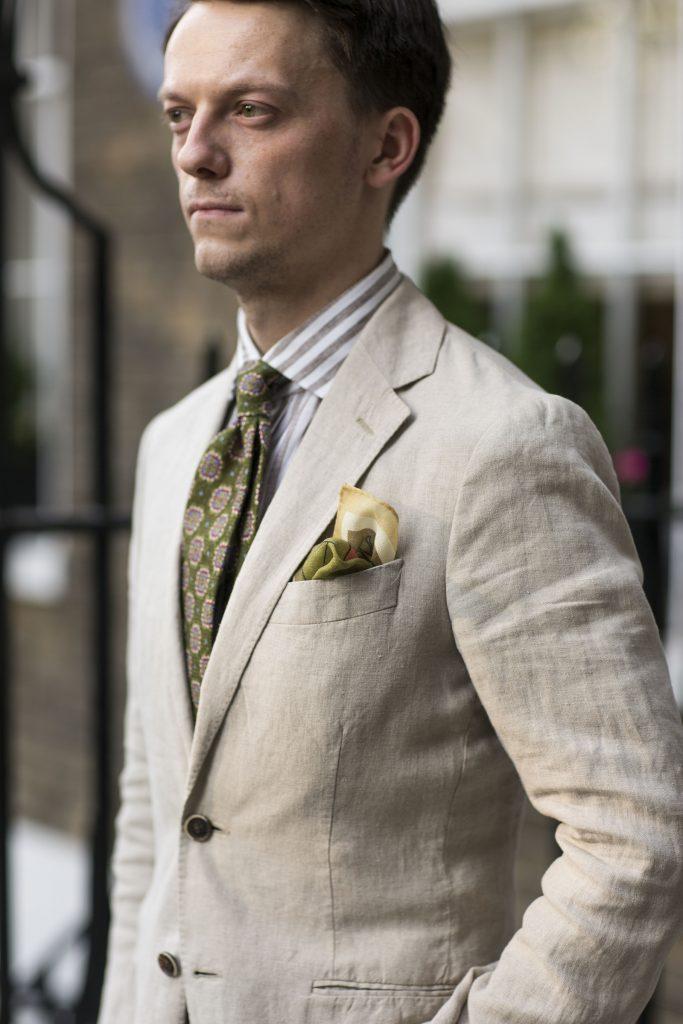 beige suit
