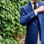 Pitti Uomo 90 – blue hopsack blazer