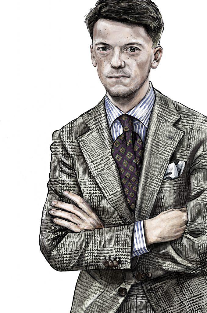Sartorial portrait (artist: Jon Leigh