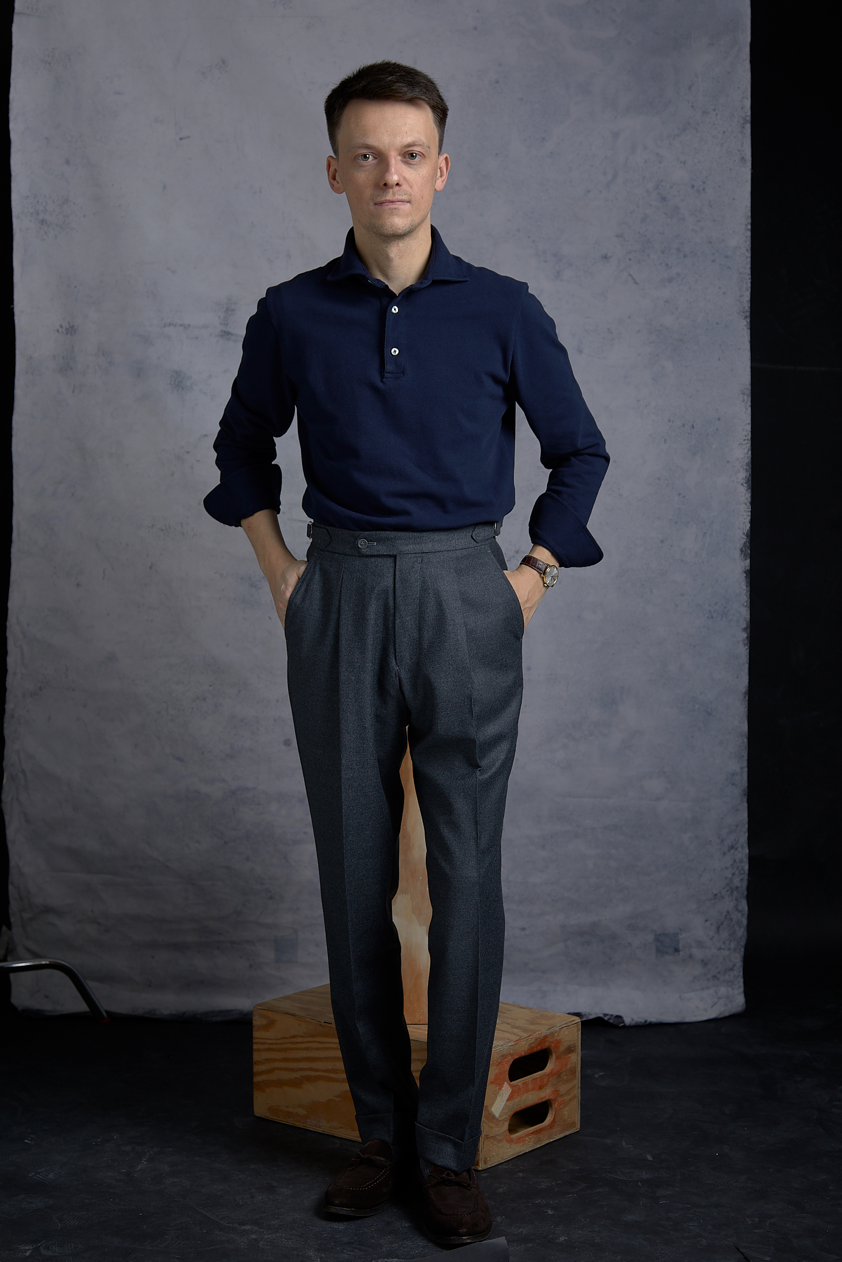 natalino flannel trousers